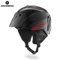 ROCKBROS Ski Helmet Integrally Molded Skiing Helmets Safety Protect Adult Kids Thermal Ultralight Snowboard Skateboard Head