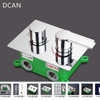 DCAN Brass Shower Switch Valve 3Ways Hot Cold Bath Mixer Faucet Accessories Wall Mounted Chrome Shower
