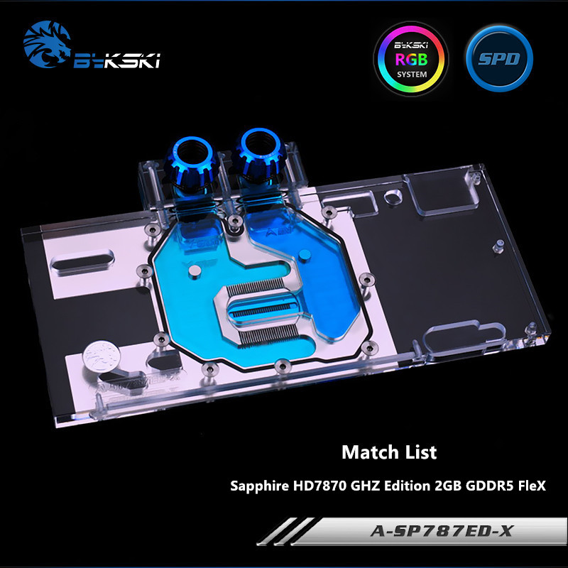 Bykski Full Coverage GPU Water Block For Sapphire HD7870 GHZ Edition 2GB GDDR5 FleX Graphics Card A-SP787ED-XBykski Full Coverage GPU Water Block For Sapphire HD7870 GHZ Edition 2GB GDDR5 FleX Graphics Card A-SP787ED-X