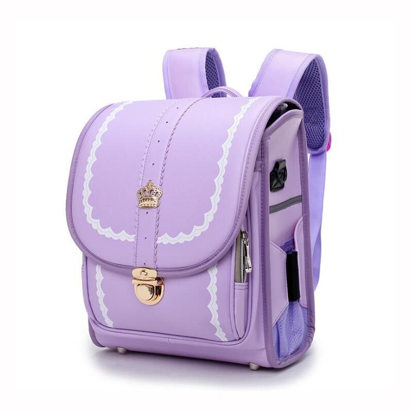 Japan Children School Bag For Girls And Boys Backpack Waterproof PU Randoseru Bags For Kid Orthopedic Satchel Mochila Escolar