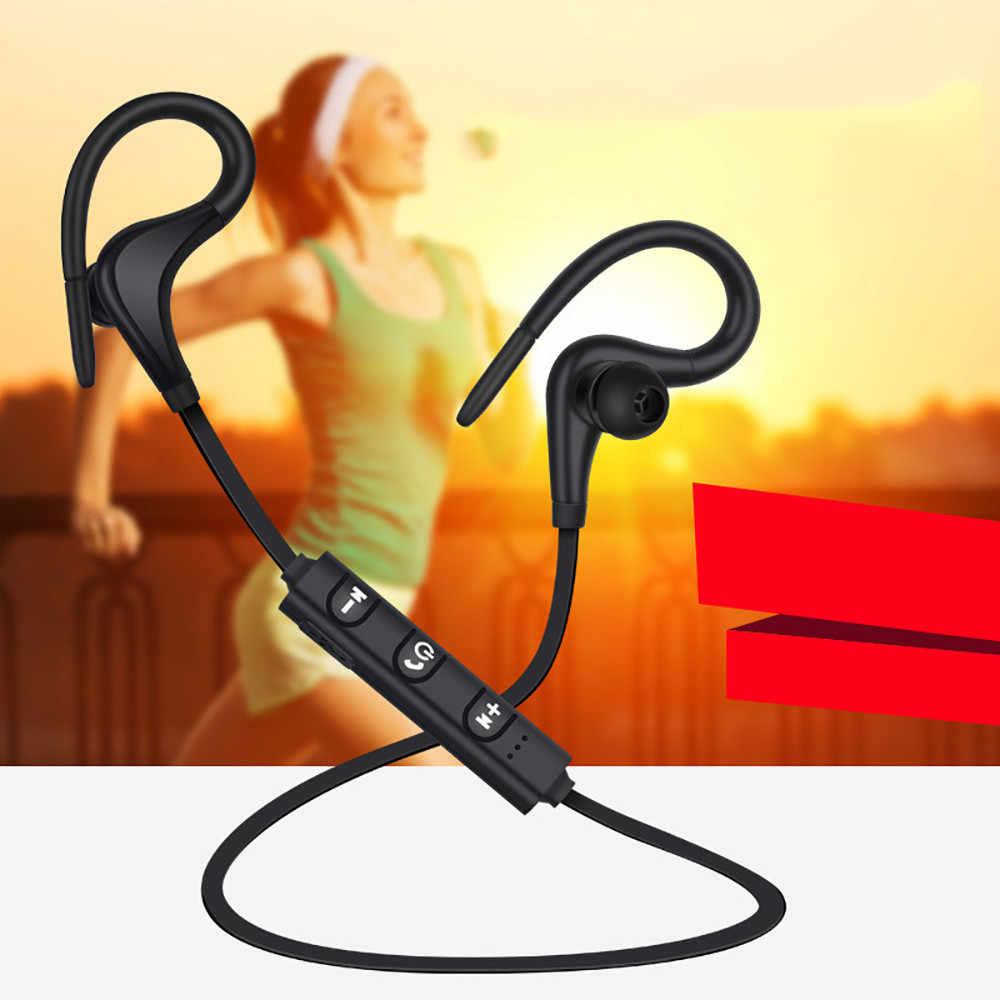 2019 najnowszy Bluetooth 4.1 bezprzewodowe słuchawki Stereo sportowe zaczep na ucho słuchawki douszne słuchawka douszna lekki dla iPhone dla androida