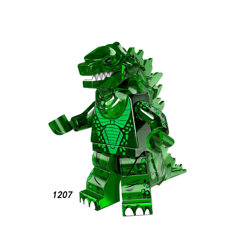 Single Sale Super Heroes Star Wars 1207 Green Godzillaing Mini Building Blocks Figure Brick Kids Gift Compatible Legoed Ninjaed