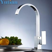 Freies verschiffen, messing Qualitätsgarantie! kitchen sink tap, küche mixer, quadrat schwenker Küchenarmaturen, torneira YT-6036