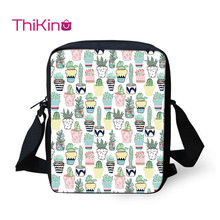 цены Thikin Printed Pineapple  Shoulder Bag for Kids Boys Mini Cactus Messenger Bags Children Travel Crossbody Versipacks