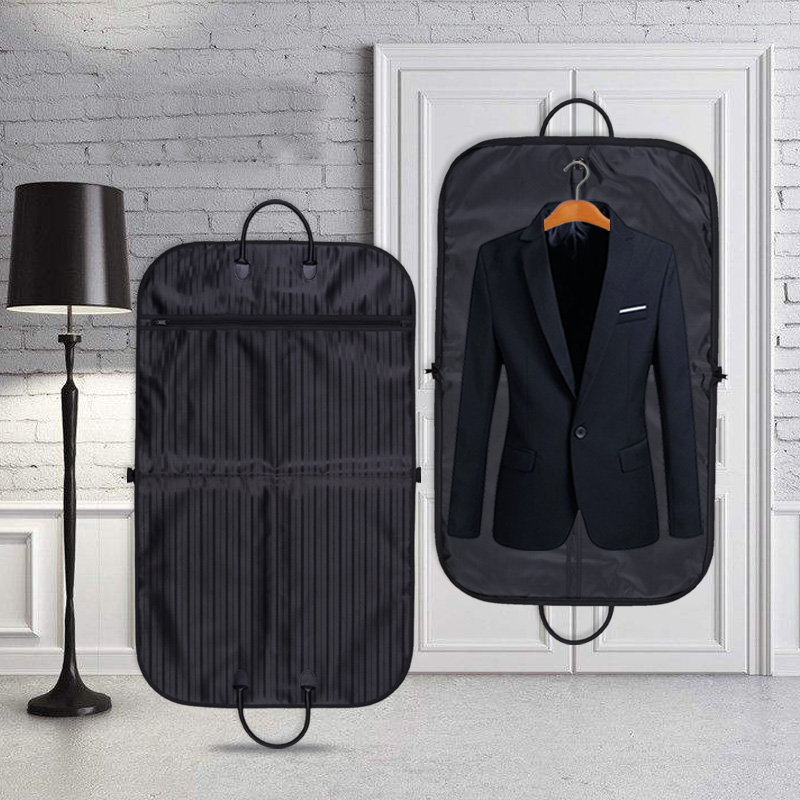 High-grade Boutique Thicken Oxford Stripe Dust Cover For Garment Mens Suit Storage Protection Case Foldable LO002
