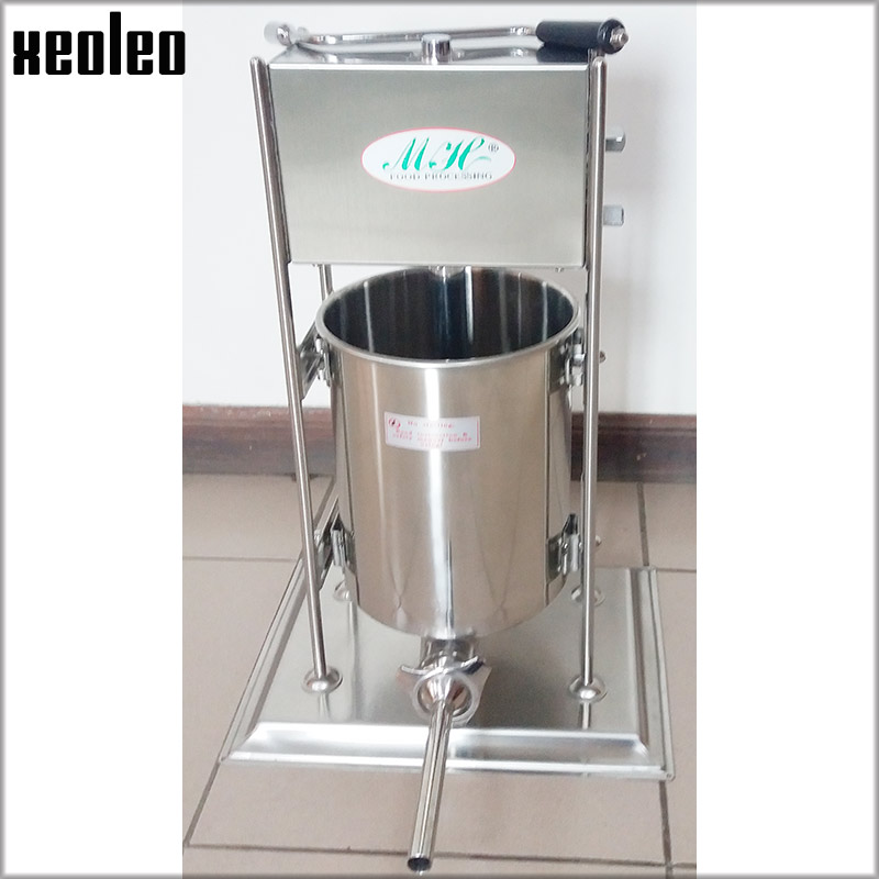 XEOLEO Commercial Sausage filler Vertical Sausage stuffer Stainless steel 10L/15L Manual Sausage filling machine Food filling 15lb 7l 7 litre manual sausage filler stainless steel vertical sausage stuffer commercial restaurant pork meat