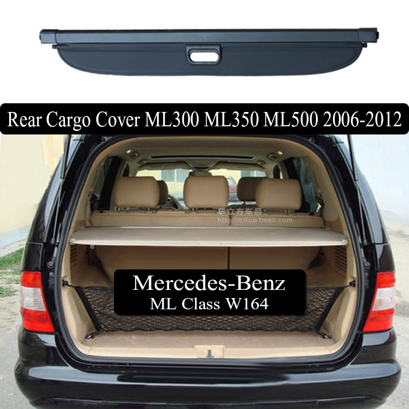 Rear Cargo Cover For Mercedes-Benz ML W164 ML320 ML300 ML350 ML500 2006-2012 privacy Trunk Screen Security Shield shadeRear Cargo Cover For Mercedes-Benz ML W164 ML320 ML300 ML350 ML500 2006-2012 privacy Trunk Screen Security Shield shade