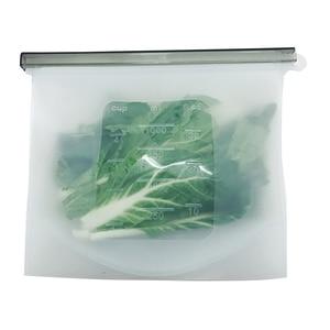 Image 2 - 8 個食品シリコーン新鮮なバッグ再利用可能な真空密封された冷凍庫バッグスライドロックスナック/サンドイッチマリネ収納袋ツール