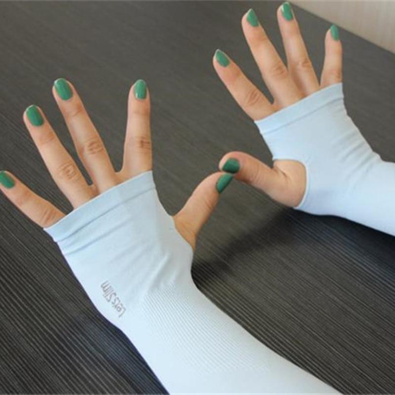 Summer 6pcs=3pairs Ice Fabric Arm Sleeves Sports UV Protection Running Cycling Driving Reflective Sunscreen Bands Dropshipping