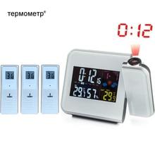 درجة الحرارة الرقمية ميزان الحرارة محطة الطقس اللاسلكية مقياس الرطوبة الرطوبة الجدول مكتب الإسقاط ساعة تنبيه العارض