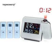 Termômetro digital sem fio, medidor de temperatura e umidade estação meteorológica higrômetro mesa projeção despertador projetor