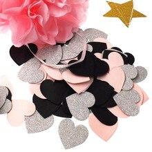 Biodegradable Cofitte Rainbow Love Heart Paper Confetti Wedding Party Confetti Table Decoration Decorative Supplies