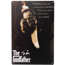 1 piece The Godfather English Quotes Life Movie signs Tin Plates wall Room man cave Decoration Art Retro vintage Poster metal