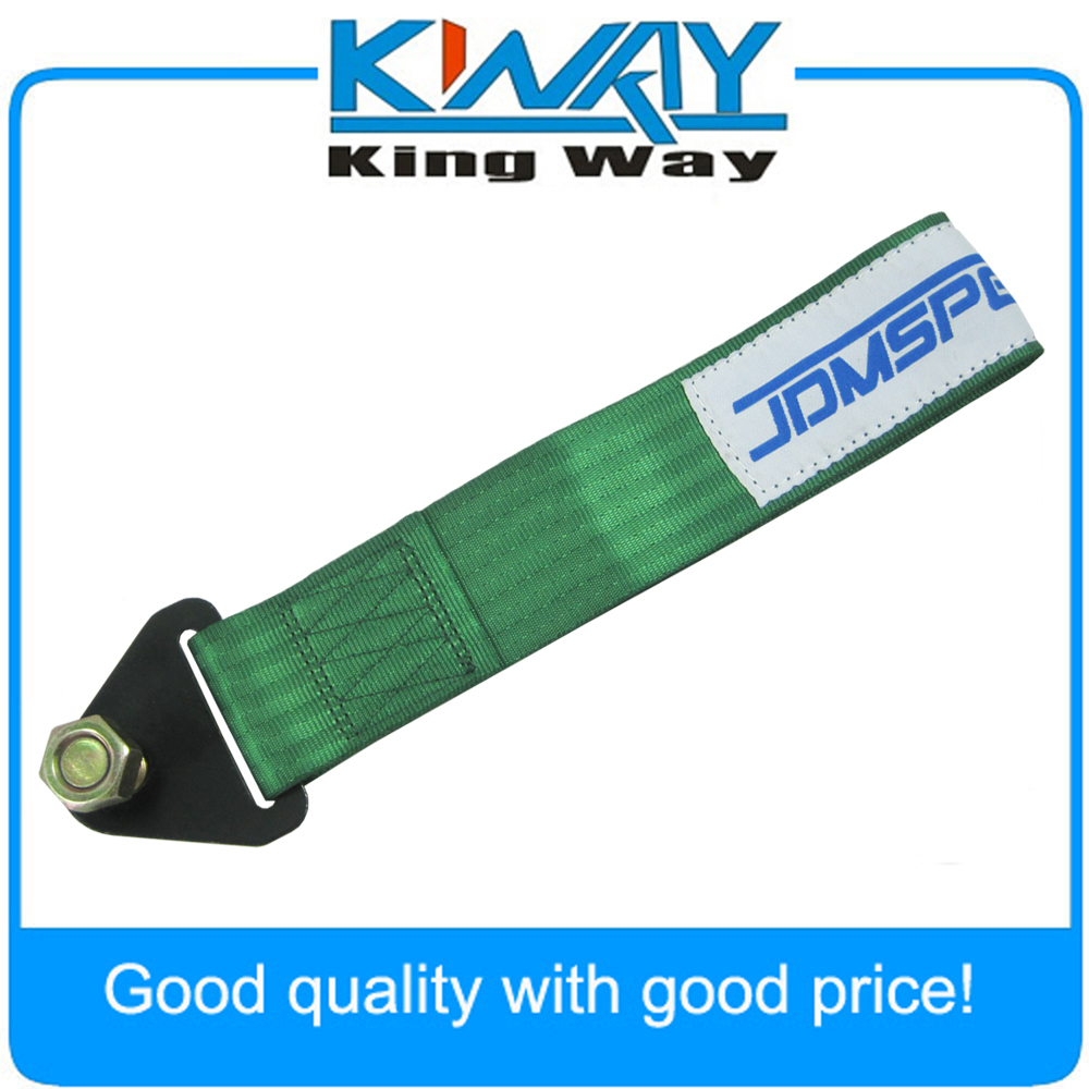 NEW UNIVERSAL GREEN TOW STRAP FOR TOWING JDM//USDM//KDM 10,000 LB RATING Race RACE