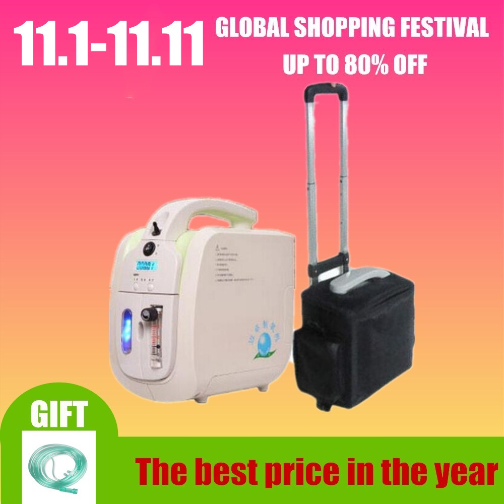 Battery operate mini portable oxygen concentrator generator 1-5L with 30%-90% purity oxygen tank цена