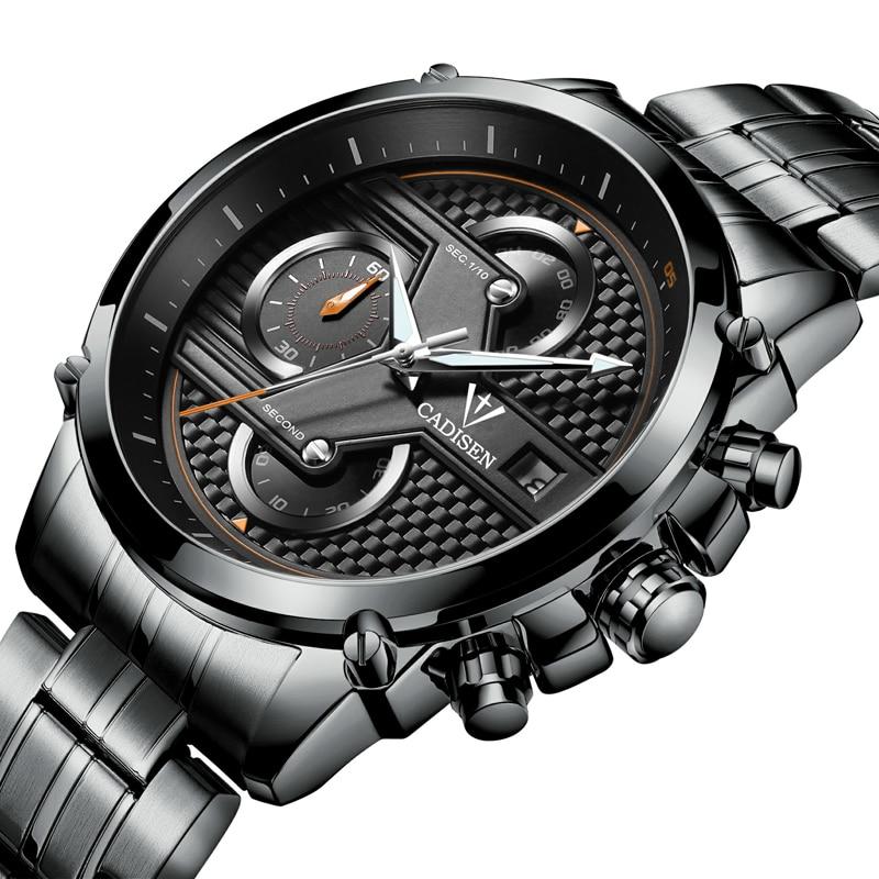 ФОТО CADISEN Watch Men Quartz-Watch Luxury Brand Men's Watch Waterproof Clock Men Wrist watches Relogio Masculino Fashion reloj hombr