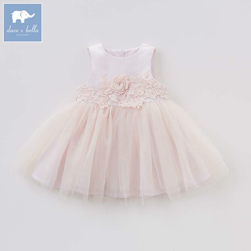 Dave bella lolita baby girl dress children birthday party wedding summer clothing infant toddler sleeveless dress DBZ7647 db7266 dave bella baby dress girls infant toddler clothing children birthday party clothes kids summer lolita dress