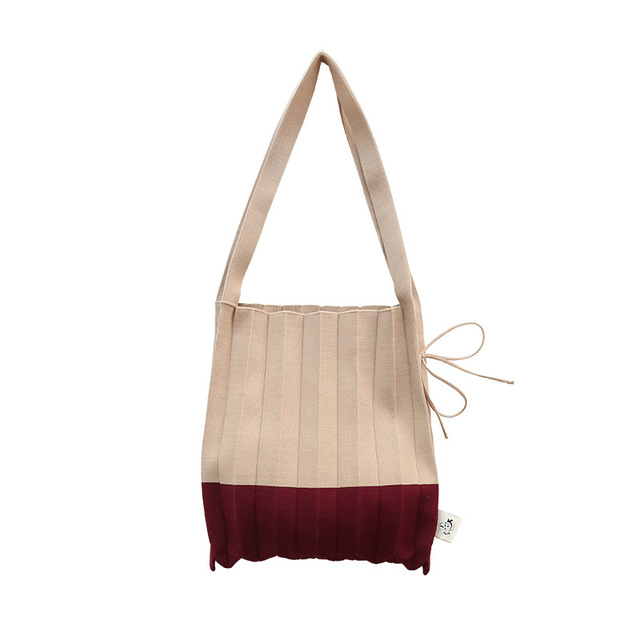 Wool Knitting Pleated Bags...
