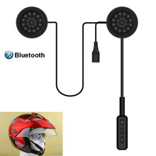 New And Fashion Motorcycle Helmet Wireless Bluetooth Earphone Headset Communication Systems Support Music For Motorbike