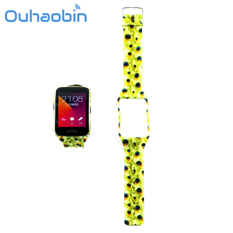 Ouhaobin 25CM 2.3cm Replacement Watch Wrist Strap Wristband for Samsung Galaxy Gear S R750 Oct 13 Dropship