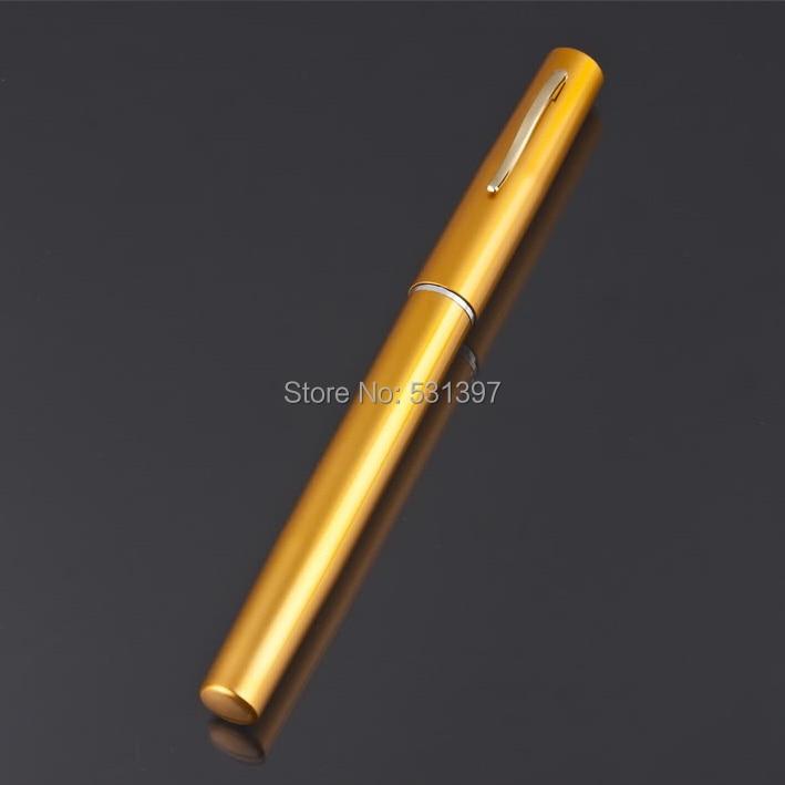 Yellow Pocket Portable Aluminum Alloy Pen Fishing <font><b>Rod</b></font>