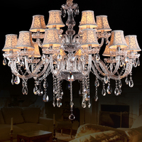 Modern Luxury K9 Crystal Chandelier Lighting Lustres De Cristal Lamp Home Lighting Fixture Large Luxury Crystal