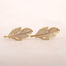 Fashion Earring Piercing Jewelry Gold Silver Fallen Leaves Stud Earrings Women Vintage Leaf Earrings Gifts Simple Ear  Jewelry