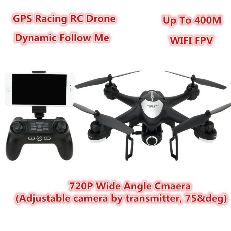 Remote Control Helicopter Wifi FPV 720P adjust Camera GPS Positioning Altitude Hold Dynamic Follow RC Drone Quadcopter vs B6 X8 image