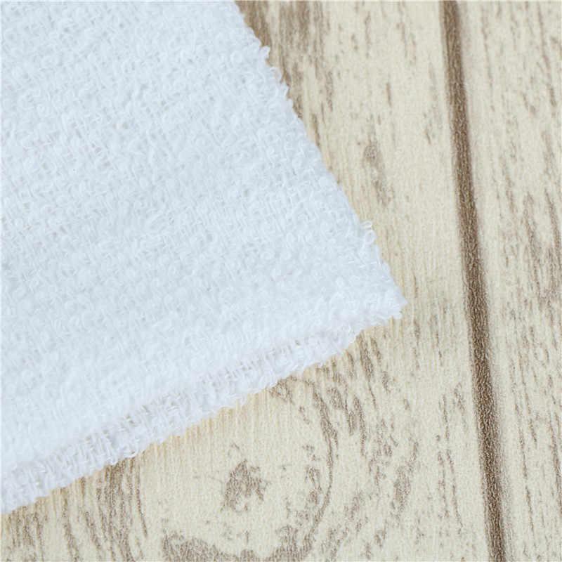 6 قطعة جديد العملي الأبيض ساحة القطن الوجه اليد سيارة القماش منزل تنظيف منشفة اللوازم المنزلية