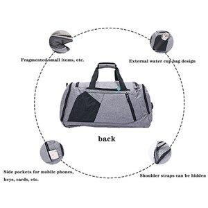 Image 5 - Bolsa de hombro con separación de ropa seca y húmeda, bolso deportivo para Fitness, equipaje de negocios, ropa, zapatos, bolsa de almacenamiento, organizador de accesorios