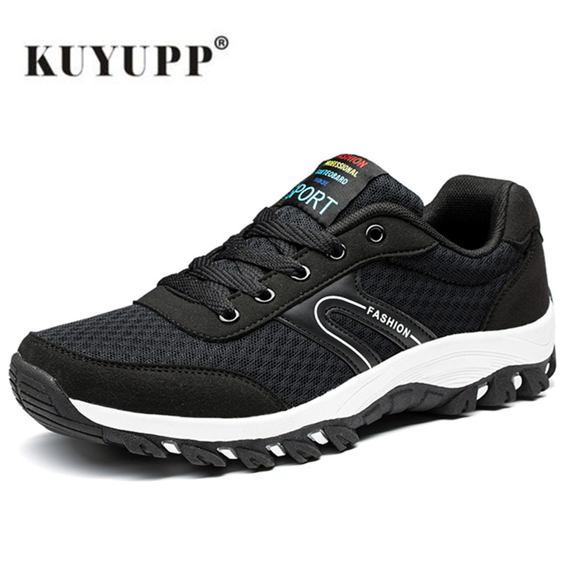 ФОТО Men Hiking Shoes Waterproof Anti-Slip Outdoor Climbing Shoes Mixed Color Trekking Shoes Slip-on Men Sport Shoes 2017 Spring B11