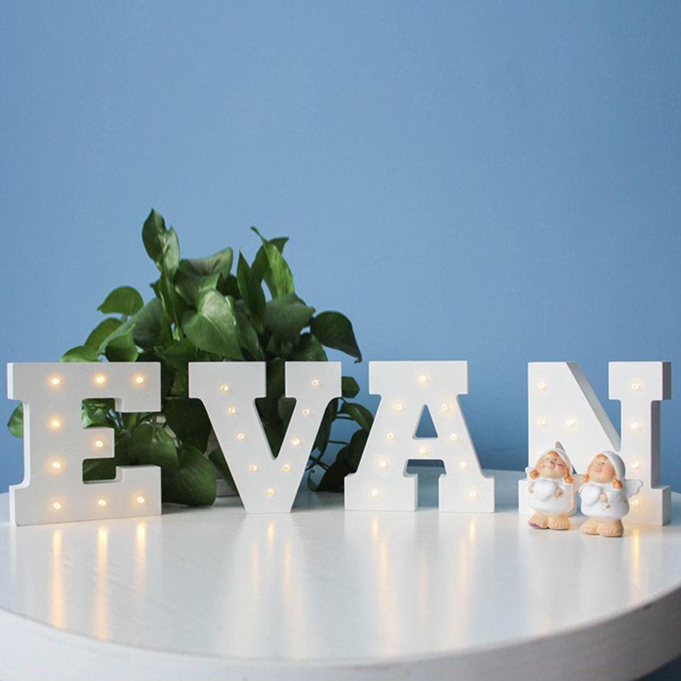 5pcs E Shape DIY LED Night Lights 3D Heart Shape Baby Kids Home Bedroom Decoration Kids Gift Night Lamp Letters Nightlight стоимость