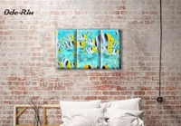Ode Rin Modern Minimalist Canvas Wall Sea Decorative Art Oil Painting Modular Picture On The