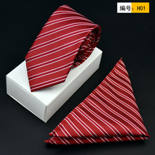New Free Shipping fashion casual Men's male high-end tie sets married British groom Metrosexual square 7CM on sale