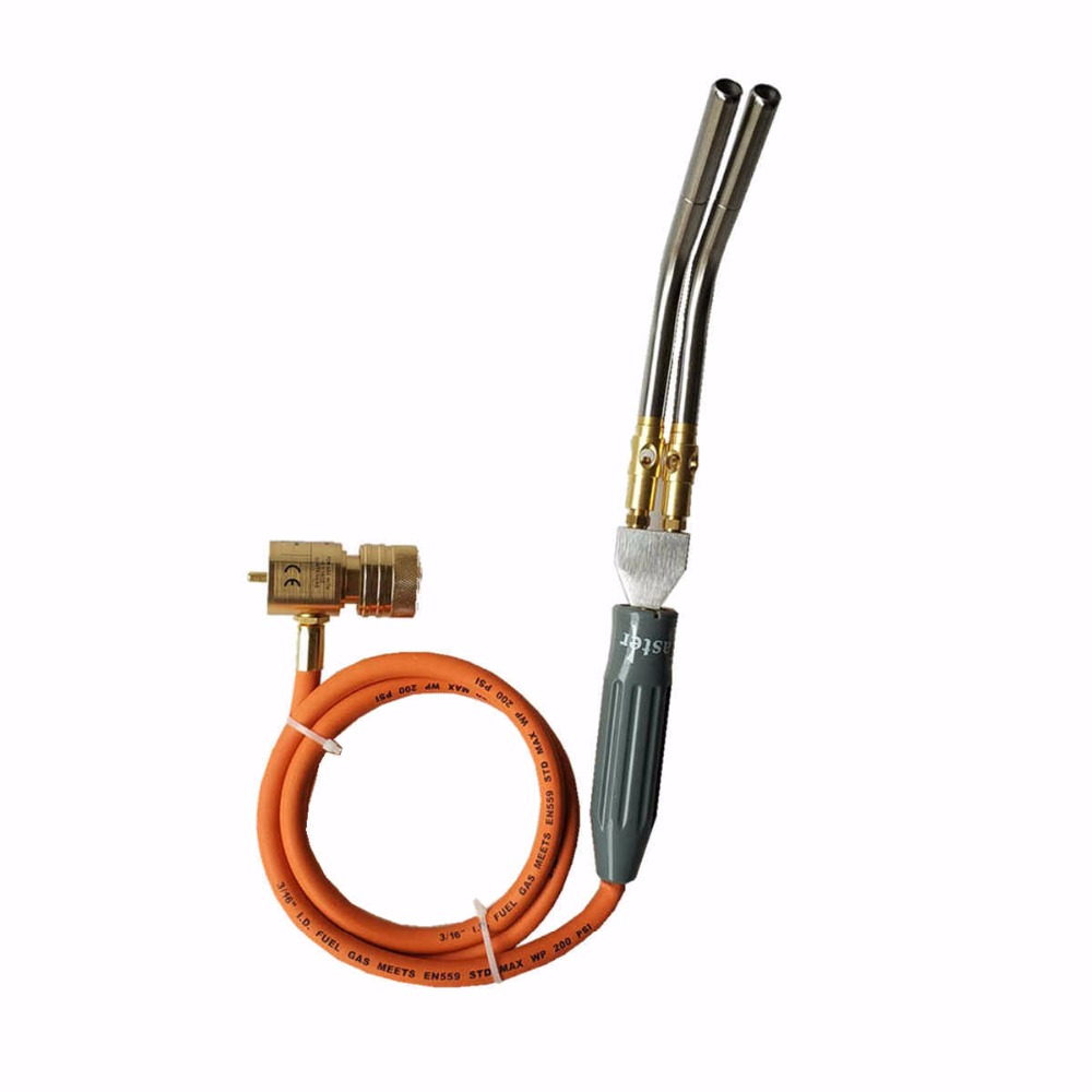 MAPP Gas Soldering Torch 1 5m 5ft Hose Gas Brazing Burner Welding Quenching BBQ Burner CE