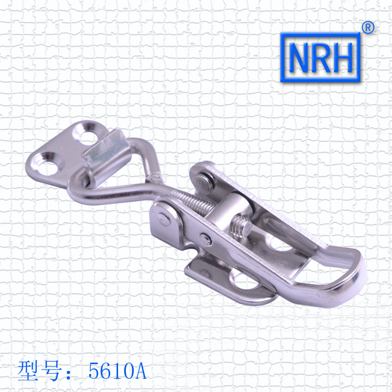 NRH 5610A 304 stainless steel latch clamp pull action clamp Communication cabinet high quality adjustable toggle Clamp hasp nrh 5619a 230 cold rolled steel latch clamp wholesale price high quality horizontal pull toggle clamp zinc plating