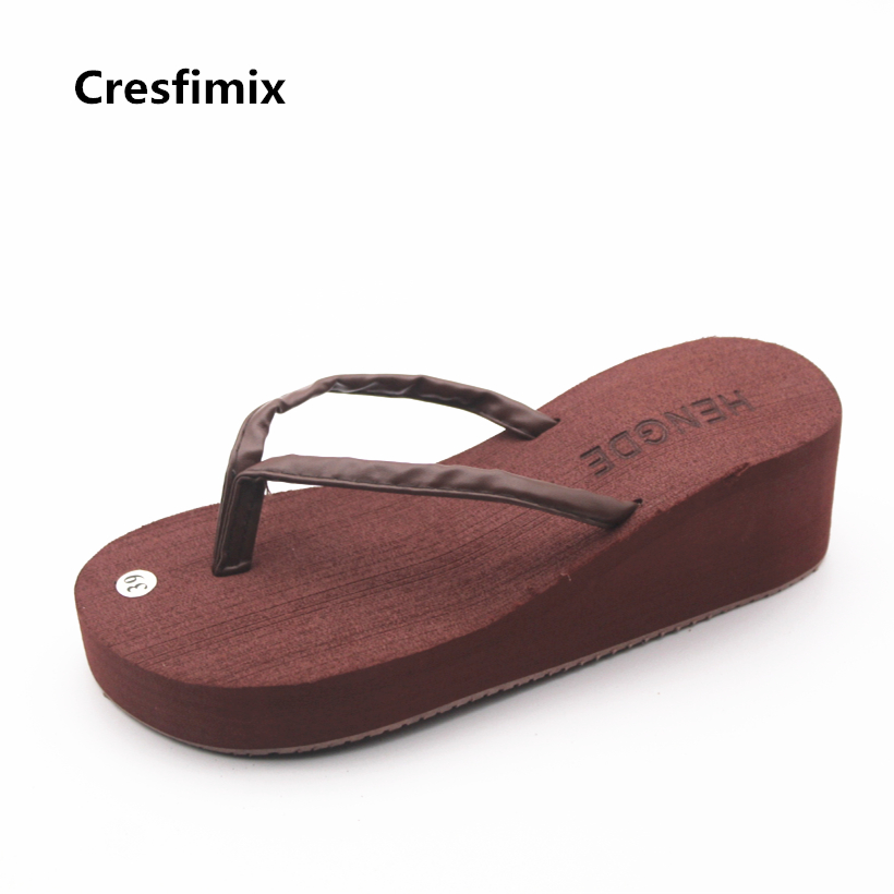 Cresfimix femmes tongs women cute brown spring & summer flip flops lady casual outside beach flip flops female cool flip flops cresfimix women cute spring