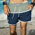 AK CLUB Bottoms Shorts Hombres Playa Pantalones Cortos Con Cordón de Nylon de Secado Rápido Supplex Cuba libre Junta Shorts Casual Hombres Pantalones Cortos 1614042