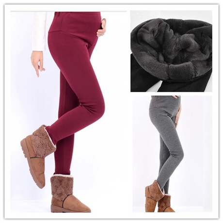 Maternity Pants Plus Size Xxxl Autumn and Winter Plus Velvet Female Trousers Candy Colors Women Maternity Leggings