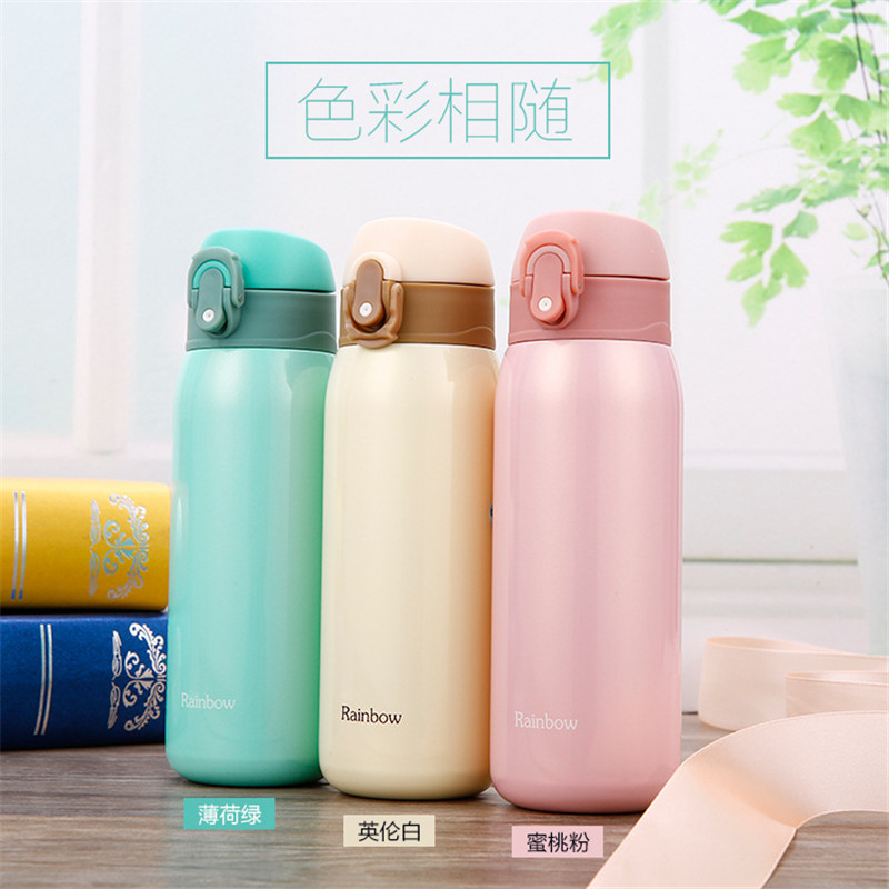 5 Colors 500ML Stainless Steel Vacuum Water Bottle Long Insulation Coffee Mugs