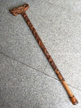 Rare Old Chinese  old wood cane walking stick,Twisted dragon,exquisite designs,Hand-carved,Ancient,free shipping
