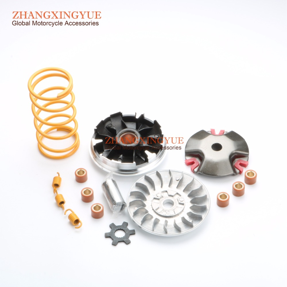 PERFORMANCE TOURGE CLUTCH SPRINGS & Performance 18mm Variator Set w/7g rollers for YAMAHA Scooter Minarelli JOG50 Zuma 1E40QMB high quality carburetor for yamaha 4dm zuma bws50 bws100 jog50 jog90 4vp e4101 30 00