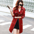 New 2016 Spring Coat Slim Trench Coat For Women Double-breasted women coat Sashes Coat Female Windbreaker Women A420
