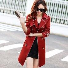 New 2016 Spring Coat Slim Trench Coat For Women Double-breasted women coat Sashes Coat Female Windbreaker Women A420
