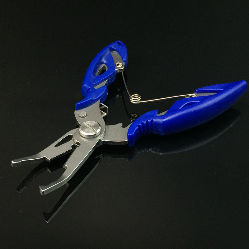 Multi-purpose All Stainless Steel Fishing Pliers Mirror Polish Lure Plier Hook Pick Braided Line Cut Tools