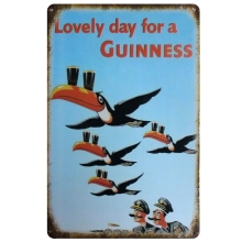 Kelly66  Guinness Wall Painting Pub Decoration Tin Sign Craft 20*30 CM Size D 53
