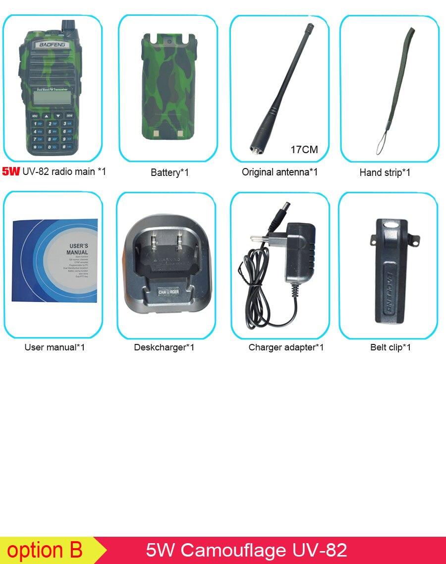 Популярная портативная рация, Baofeng, UV-82, две кнопки PTT, двухстороннее радио Vhf Uhf, двухдиапазонное Baofeng UV 82 UV82, двухстороннее радио - Цвет: 5W camouflage
