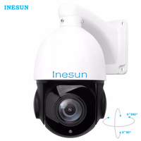 Inesun PTZ IP Security Camera 5 0 Megapixels Super HD 2592x1944 Pan Tilt 18X Optical Zoom