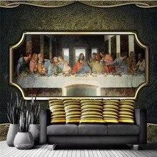 Custom wallpaper nostalgic retro hand-painted characters final dinner KTV tool wall high-end cloth