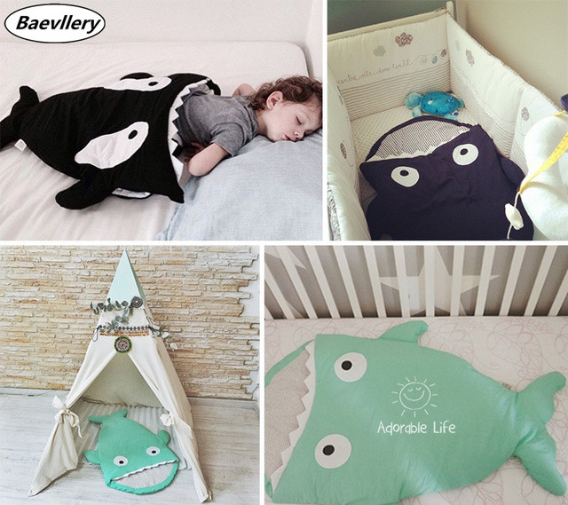 Shark Baby Sleeping Bag Winter Strollers Bed Swaddle Blanket Wrap Cute Bedding Product